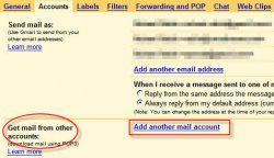 gmail accounts tab