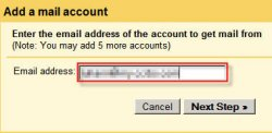 gmail add a mail account dialog