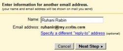 E-mail address information