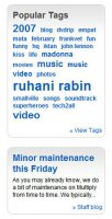 Tag Cloud and Staff Blog Updates