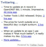 twittering using twitter tools