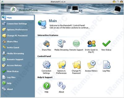 iRemotePC free remote desktop service