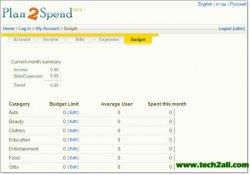 plan2spend budget